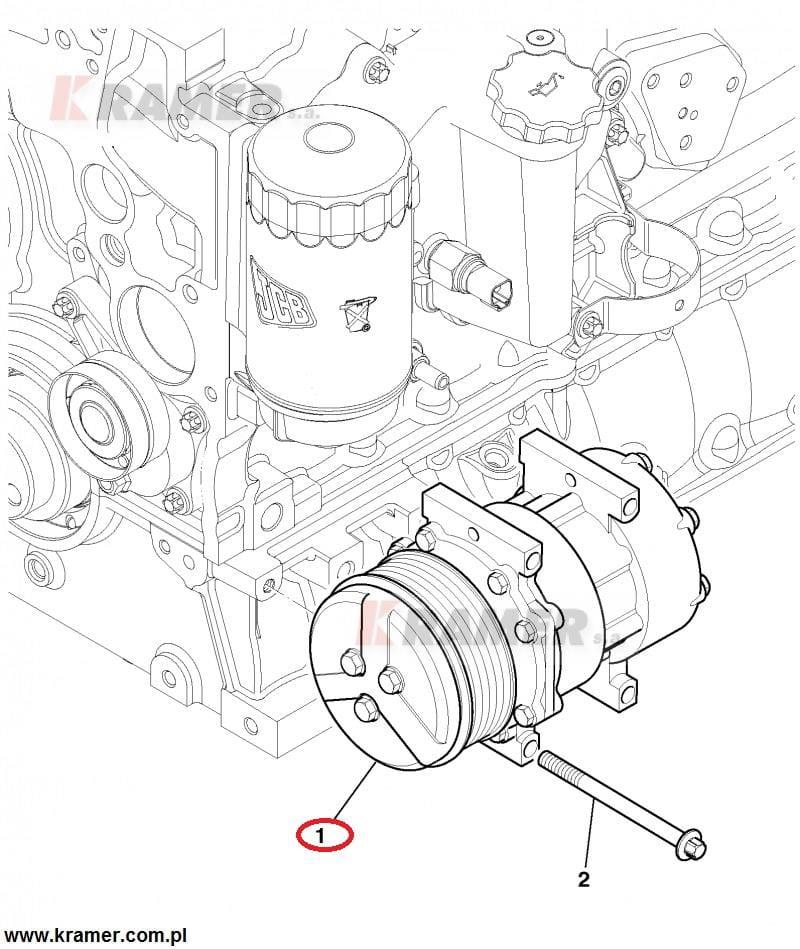spr u0119 u017carka klimatyzacji jcb 3cx 4cx jcb dieselmax kramer s